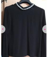 AKCIJA - Zara crna bluza s biserima