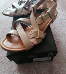 Bež kožne sandale