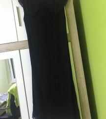 elegantna crna haljina do koljena-pt uracunata