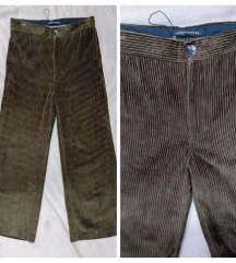 ZARA cullotes samt crop hlače, nove, uklj.Tisak