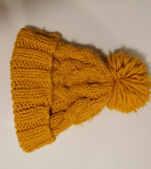 Žuta zimska kapa - vuna