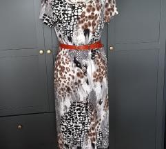 Talijanska haljina životinjskog uzorka