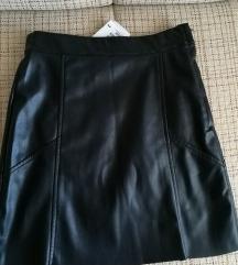 H&M kožna suknja NOVA (s etiketom)