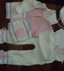 Pleteni komplet za bebu curicu