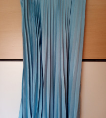 Zara baby blue plisirana suknja