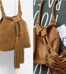 Nova Zara kožna boho torbica