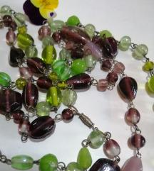 Vintage duugaa dvostruka staklena ogrlica