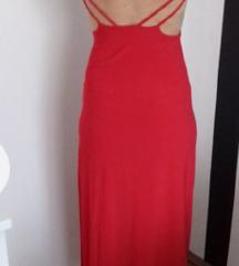 crvena asos haljina sa etiketom