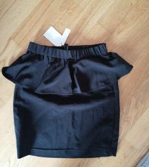 Peplum suknja s etiketom
