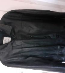 Kožni kaput plus size 44/46/48