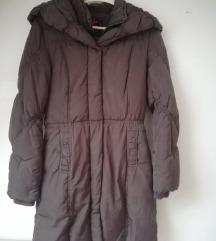 Smeđa zimska dulja jakna 36