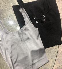 ZARA haljinice crna i srebrna = 90 kn