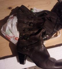 Tamaris kožne čizme vel 39,smeđe akcija