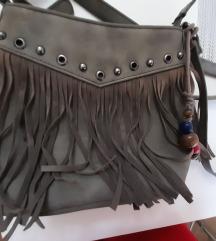 Mala siva torbica s resama