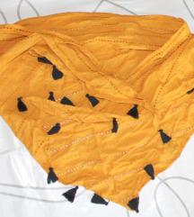 Šal marama senf boje