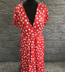 MAXI wrap haljina M-L