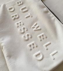 Zanimljiva bijela ZARA torbica
