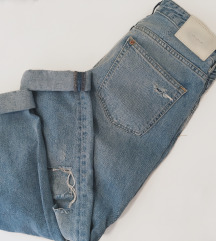 H&M boyfriend ripped jeans