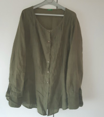 Benetton maslinasta bluza košulja L XL