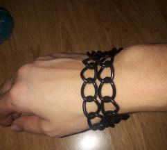 Crni lanac narukvica