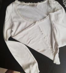 Bijela rastetljiva majca m-l