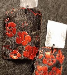 Dizajnerske naušnice svila aluminij rez