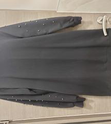 Crna sweatshirt haljina