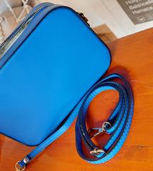 Plava kožna torbica