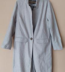 Dugi sivi kaput/mantil 44 , XL