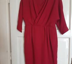 Rez Max Mara crvena svečana haljina 40