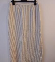 Duga suknja na pruge