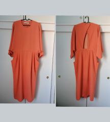 &otherstories haljina coral svečana otvorena leđa