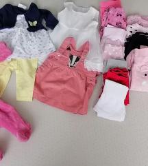 LOT za bebe djevojčice, vel 56-62