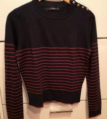 Zara mornarski džemper