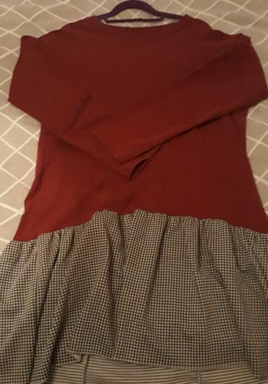 Bordo haljina s volanom