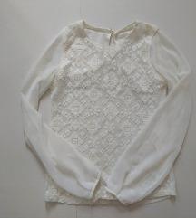 Zara bijela bluza sa uzorkom