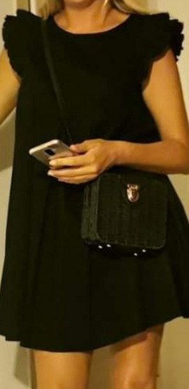 Crna ljetna haljina M/L