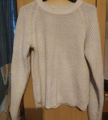 Bijeli debeli pulover xs