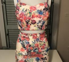 Cvjetni komplet/ top i suknja