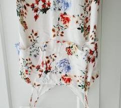 BERSHKA cvjetna duga haljina