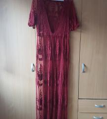 Čipkasta haljina za plažu