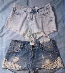 Kratke traper hlače zara, hm