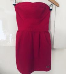 Hollister haljina bez naramenica roza