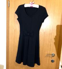 Zara tamnoplava haljina s mašnom