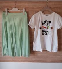 Suknja plisirana i majica