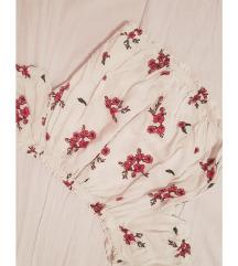 Bijela cvjetna bluza