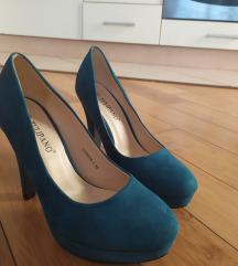 Tirkizne cipele na petu