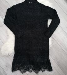 Haljina crna pletena nova