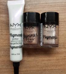 NYX pigment base i gliter 2x