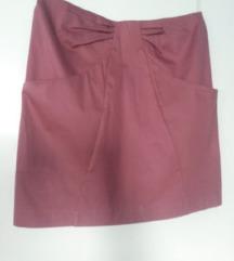 Ciklama poslovna suknja